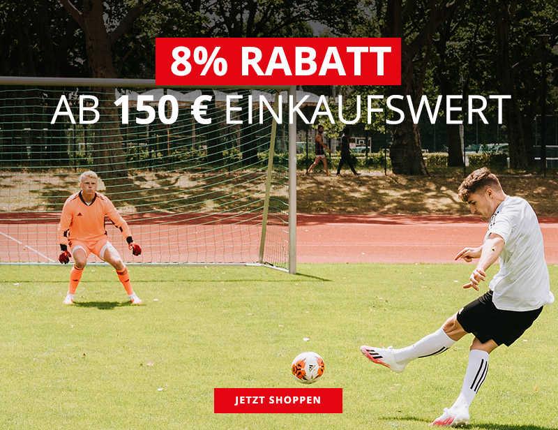 8 % RABATT AB 150 € EINKAUFSWERT
