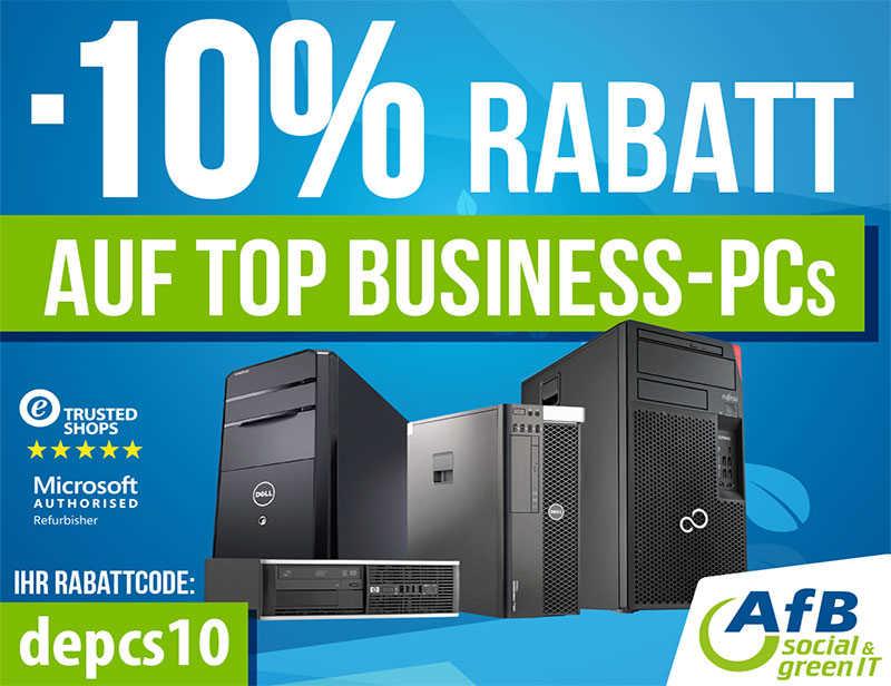 10% RABATT AUF ALLE PCS
