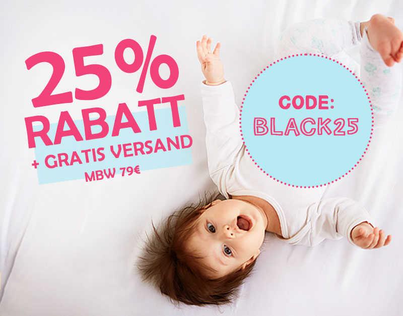 25% Rabatt + GRATIS VERSAND
