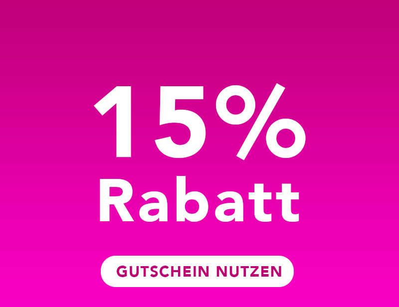 15% GUTSCHEIN OHNE MINDESTBESTELLWERT