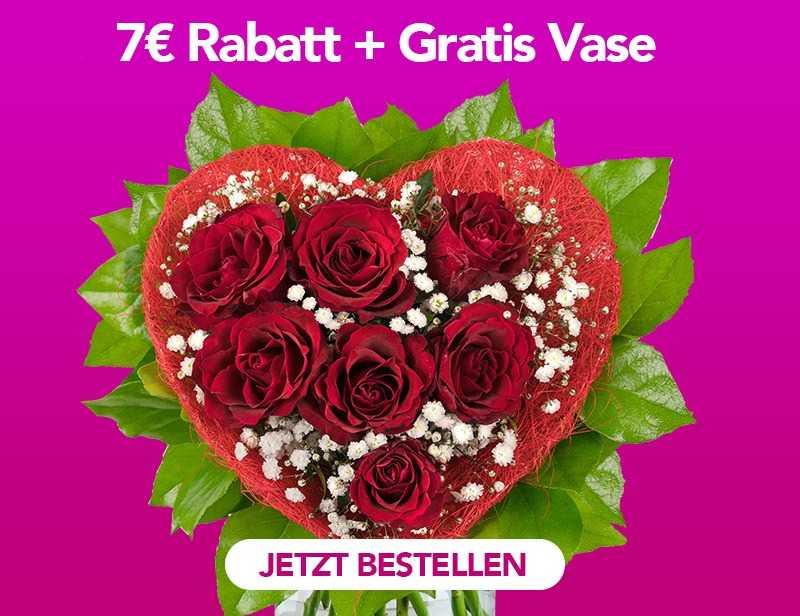 7€ RABATT & GRATIS VASE