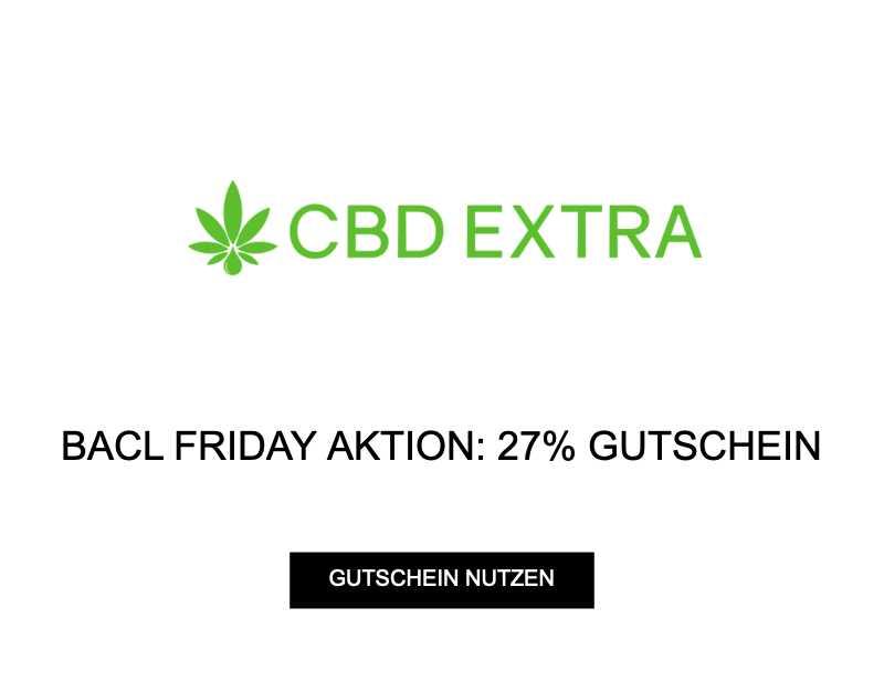 BLACK FRIDAY AKTION: 27% GUTSCHEIN
