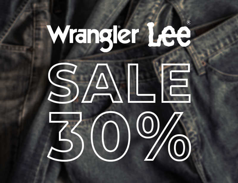 30% EXTRA auf Wrangler & LEE