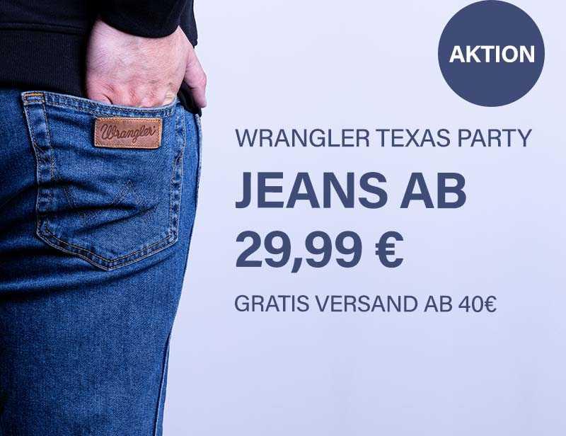Wrangler Texas Party + Gratis versand!