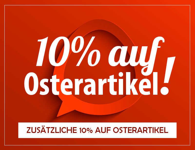 10% Rabatt auf stark reduzierte Oster-Artikel