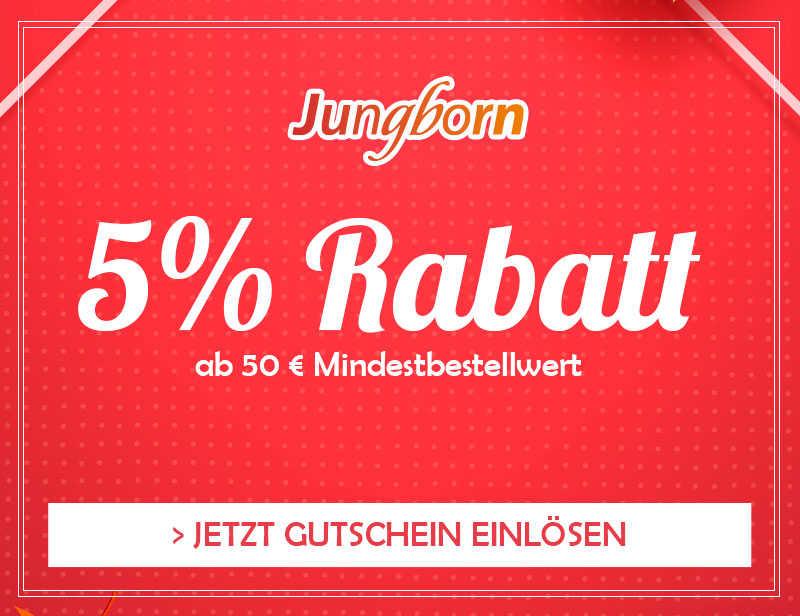 EXKLUSIVER 5% GUTSCHEIN AB 50€