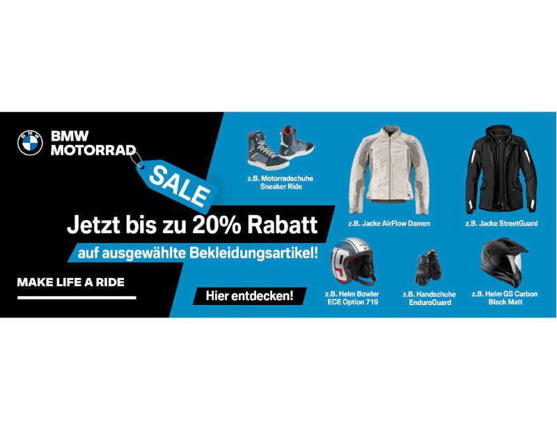 BMW BEKLEIDUNG SALE BIS ZU 20% RABATT