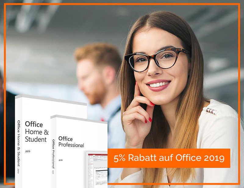 5% GUTSCHEIN AUF MICROSOFT OFFICE 2019