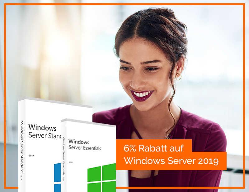 6% GUTSCHEIN AUF WINDOWS SERVER 2019