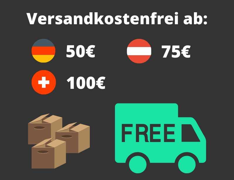 Kostenloser Versand ab 50 Euro