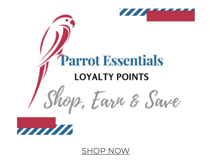 £5 COUPON WITH PARROTESSENTIALS LOYALITY PROGRAM