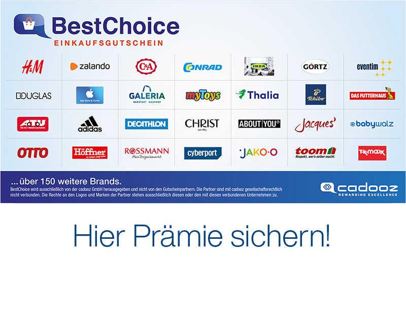 Kreditabschluss mit bis zu 1000€ BestChoice Gutschein (1% der Kreditsumme)